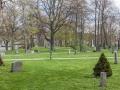 Hřbitov a parčík zároveň.