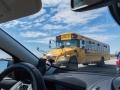První zachycený školní autobus.