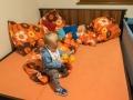 Adámek samozřejmě vzorně půjčoval hračky Marečkovi. :)