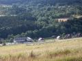 Pohled do údolí na naši chatu.