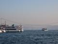 Bosphorus Bridge mezi Evropou a Asií.