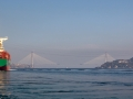 Třetí most mezi Evropou a Asií - zatím rozestavěný. A taky neskutečné obrovské lodě.