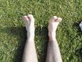 Moje nohy po pátku.