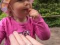 Zobat borůvky z ruky ji šlo perfektně.