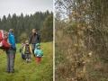 Cestou jsme potkali stopu od medvěda, který schovával bonbony.